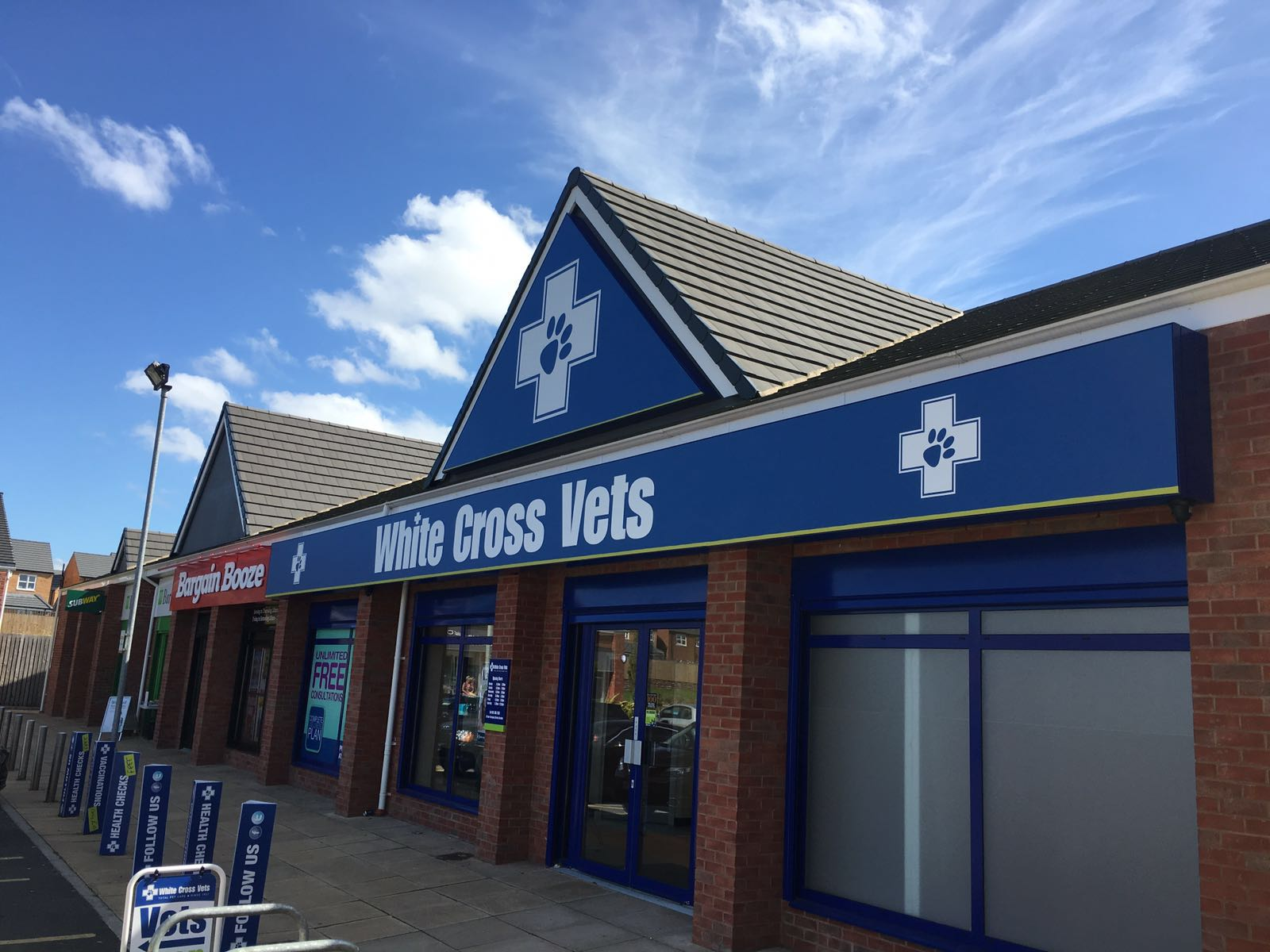 White cross vets widnes fusion signs for Home architecture widnes